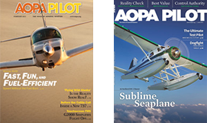 AOPA Magazine cover story Sublime Seaplane